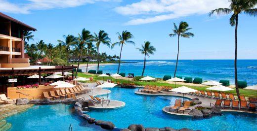 beach resort scenery