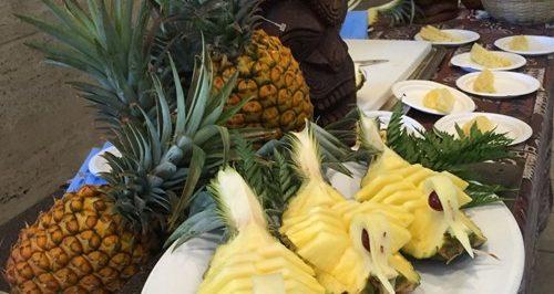 sliced art pineapples