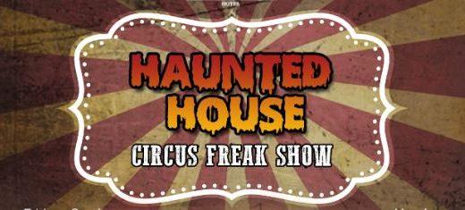haunted house circus freak show wallpaper