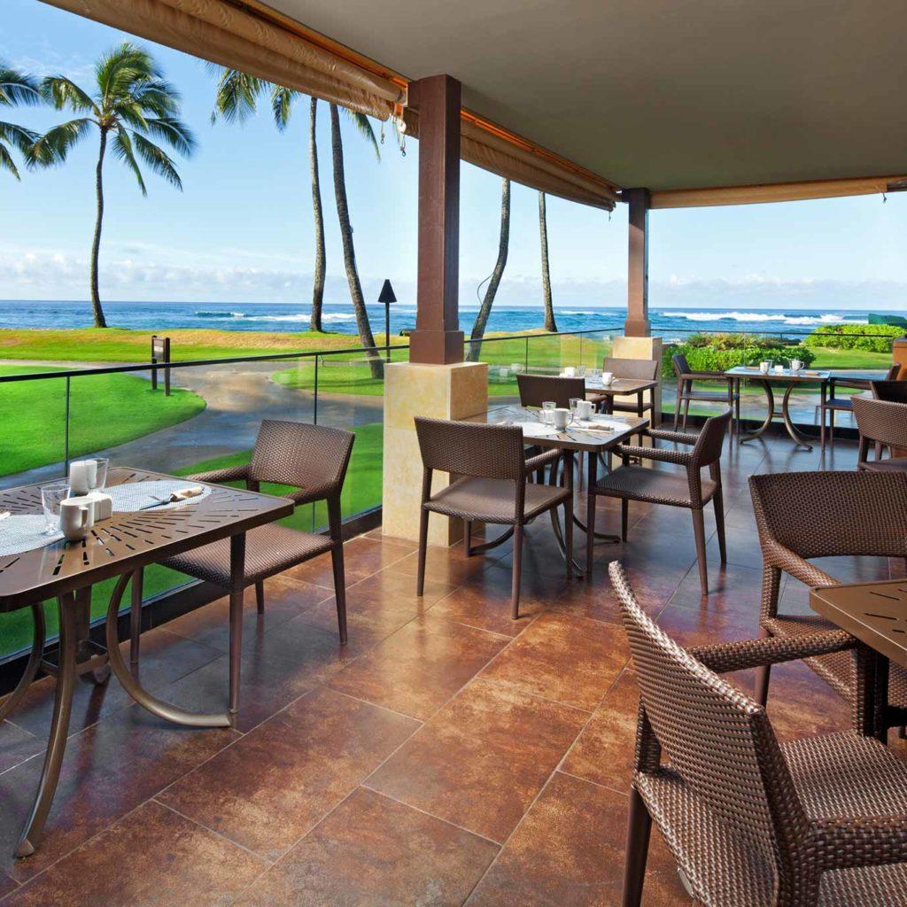 Lava S On Poipu Beach Kauai Restaurant Marriott Hawaii