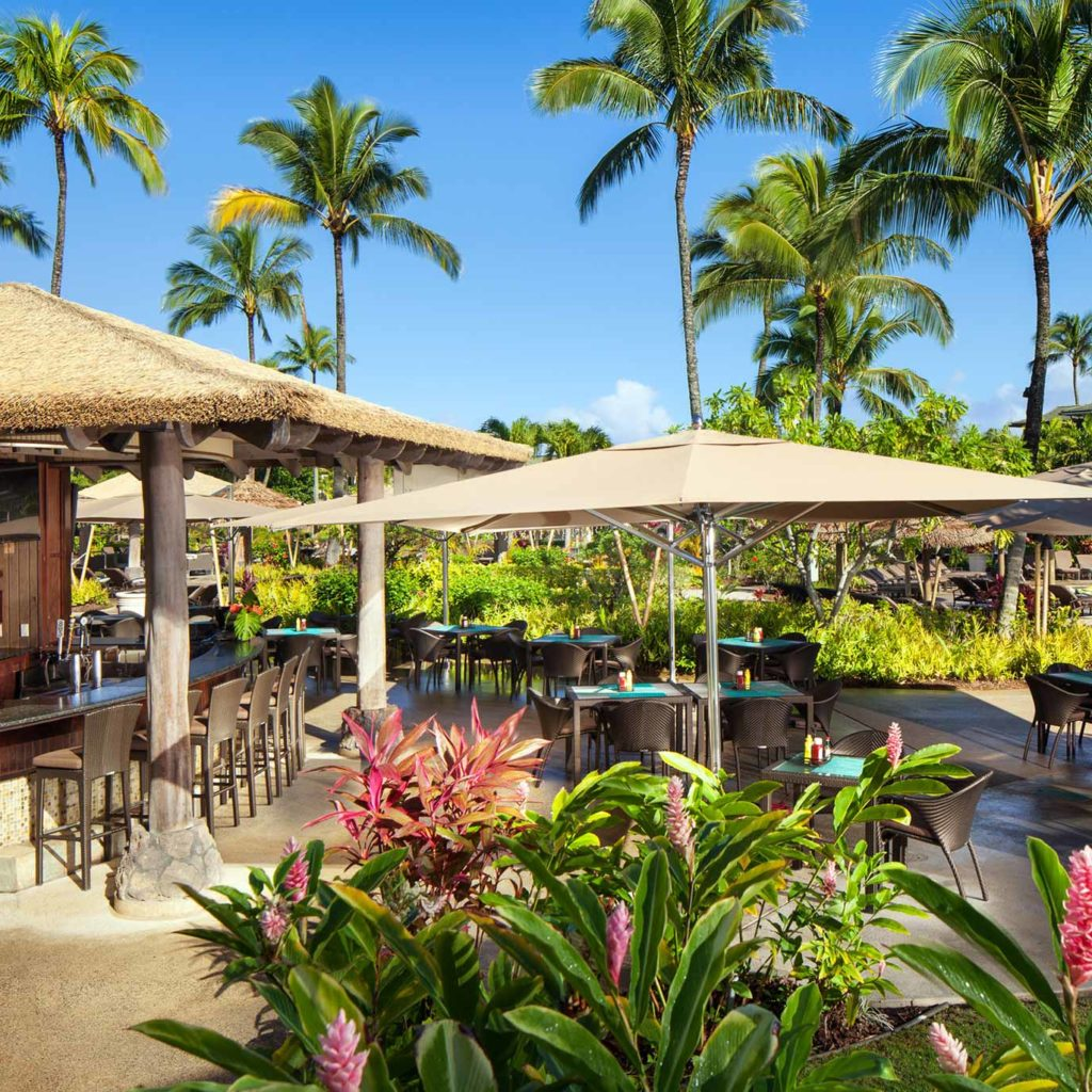 Wailele Bar Princeville Dining Marriott Hawaii