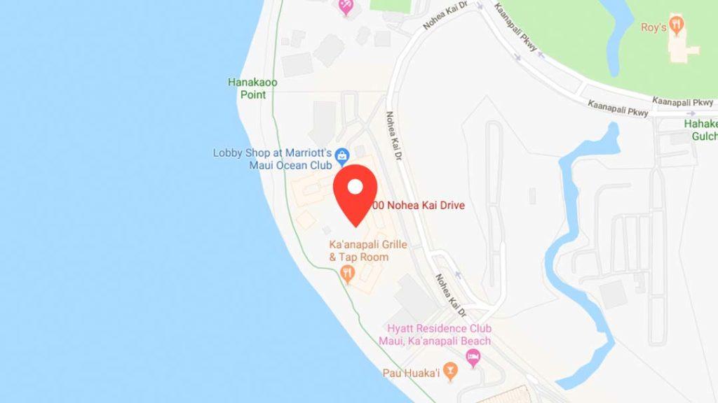 Google Map at Nohea Kai Drive