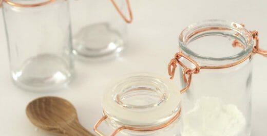 clear glass canisters