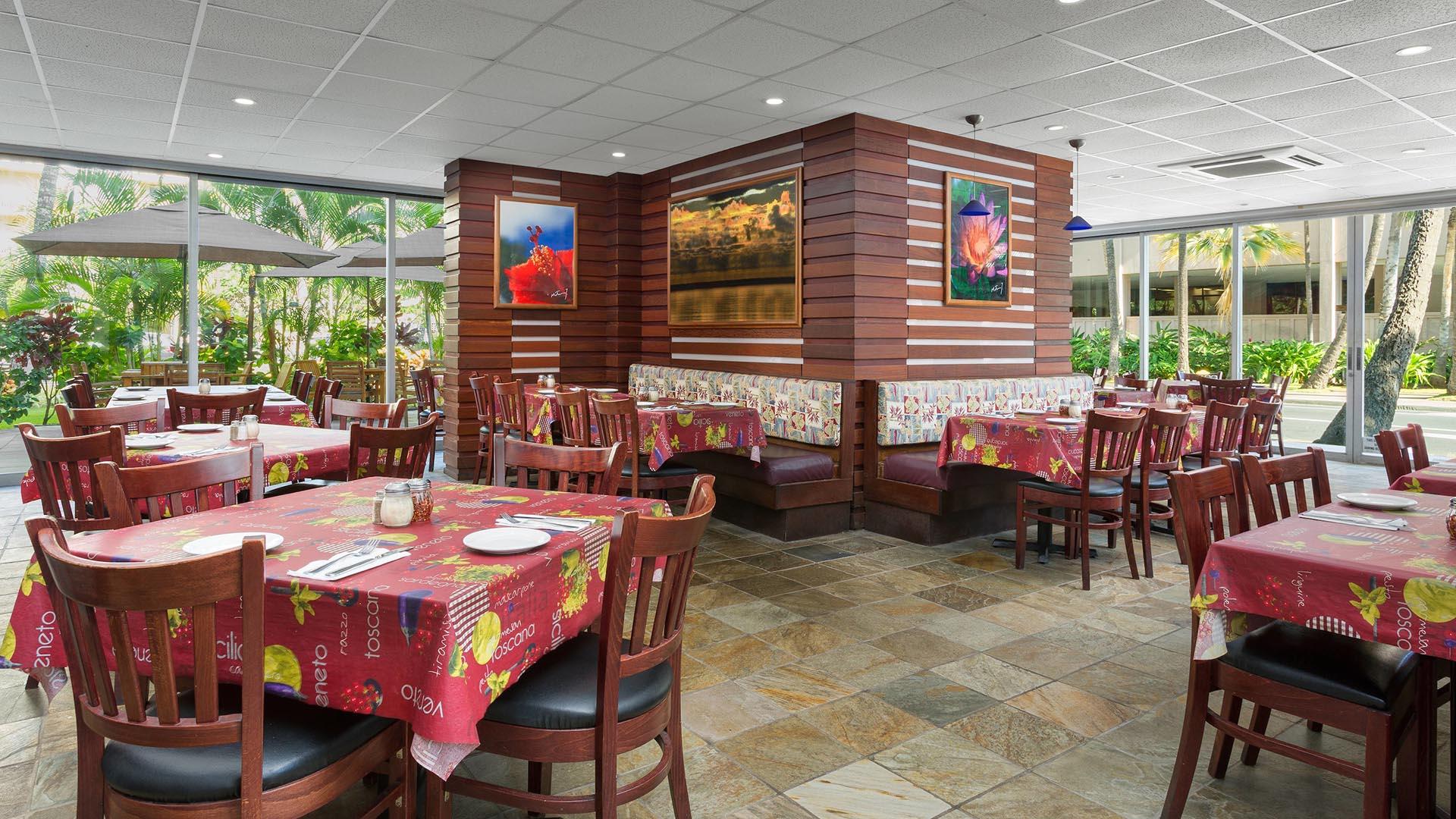 empty restaurant during daytime