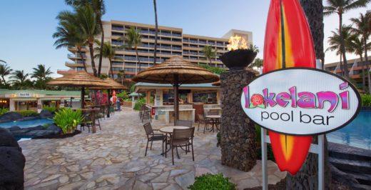 Lakelani pool bar signage during daytime