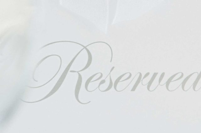 reserved text