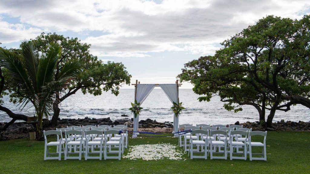 empty beach wedding theme during daytime