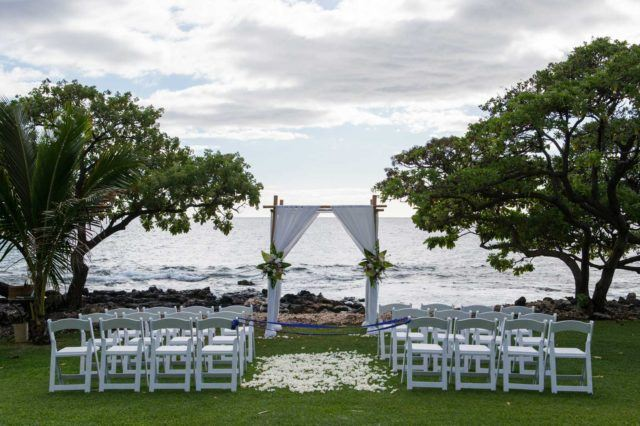 empty beach wedding theme during daytime